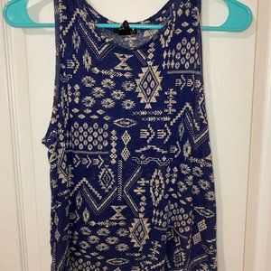 Small Forever21 Blue Tank Top
